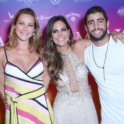 Luana Piovani e Pedro Scooby prestigiam aniversário de Carol Sampaio, no Rio