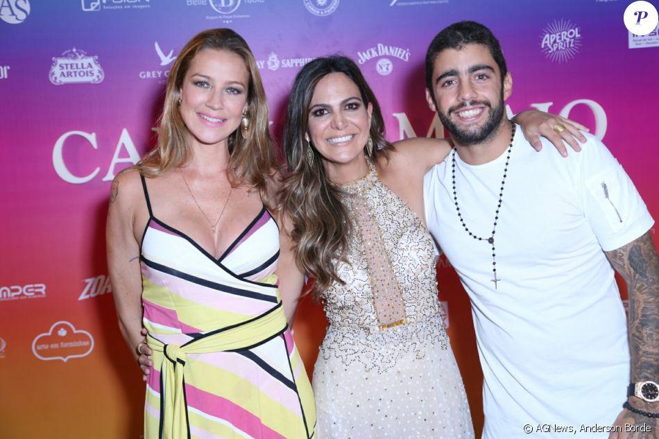 Luana Piovani e o marido, Pedro Scooby, marcam presença no aniversário da promoter Carol Sampaio, no Copacabana Palace, no Rio de Janeiro, em 12 de março de 2017
