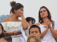 Flávia Alessandra e Giulia Costa choram em evento com crianças refugiadas. Fotos