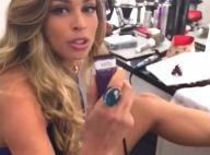 Grazi Massafera aparece depilando a perna em bastidor de 'A Lei do Amor'. Vídeo!