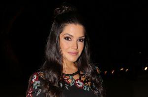 Grávida, Thais Fersoza assiste desfile no SPFW e elogia Isabeli Fontana: 'Diva'