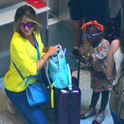 Giovanna Ewbank e a filha, Títi, embarcam estilosas em aeroporto do Rio. Fotos!
