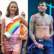 Bruna Marquezine é seguida por Chris Brown na web e Neymar alfineta: 'Segura'