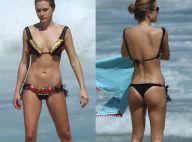 Fiorella Mattheis, de biquíni, exibe corpo sequinho em praia do Rio. Fotos!