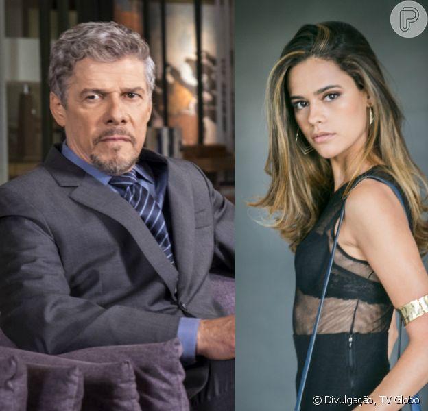 Tião (José Mayer) será rejeitado pela prostituta Aline (Arianne Botelho) em 'A Lei do Amor'