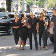 Sasha Meneghel e Xuxa foram acompanhadas de familiares