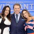Silvio Santos confirmou que passou suas empresas para as filhas e brincou com as filhas Silvia e Patricia