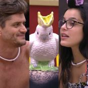'BBB17': Marcos chama ave de enfeite de 'Emilly' enquanto a alimenta com milho