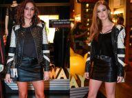 Bruna Marquezine repete jaqueta de Marina Ruy Barbosa em evento de moda. Fotos!