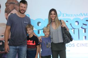 Fernanda Lima e Rodrigo Hilbert levam filhos em estreia de filme no Rio. Fotos!