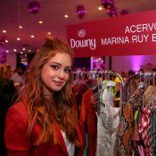Marina Ruy Barbosa prestigia bazar beneficente com looks de seu acervo, em SP