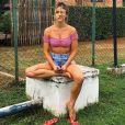 Giovanna Ewbank aprovou o resultado após colocar silicone nos seios