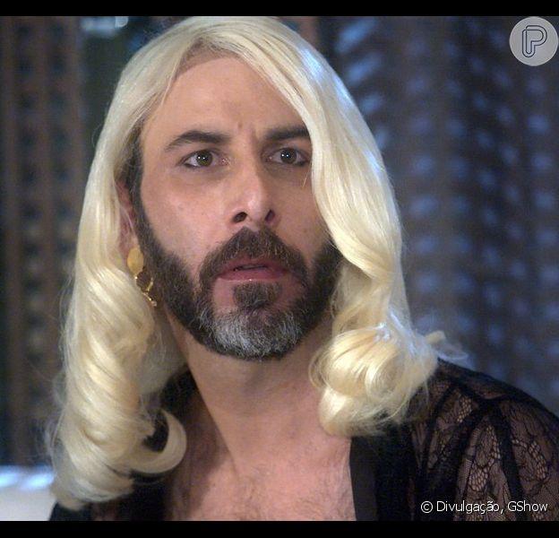 Hércules (Danilo Grangheia) surgirá vestido como Magnólia (Vera Holtz) na novela 'A Lei do Amor'