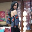 """Ana Furtado apostou em um look leve e colorido para a apresentação do programa """"É de Casa"""", da Globo"""