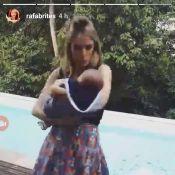Rafa Brites mostra o filho, Rocco, pela primeira vez após nascimento. Veja vídeo