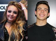 Larissa Manoela e Thomaz Costa posam agarradinhos em show de Justin Bieber