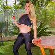 Andressa Suita mostrou barriga de 6 meses de gravidez em dia de treino
