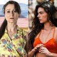 Edinalva (Zezé Polessa) dá uma surra em Ritinha (Isis Valverde) em praça pública e a proíbe de sair de casa, na novela 'A Força do Querer'