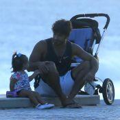 Marido de Deborah Secco, Hugo Moura rouba a cena na praia com Maria Flor. Fotos!