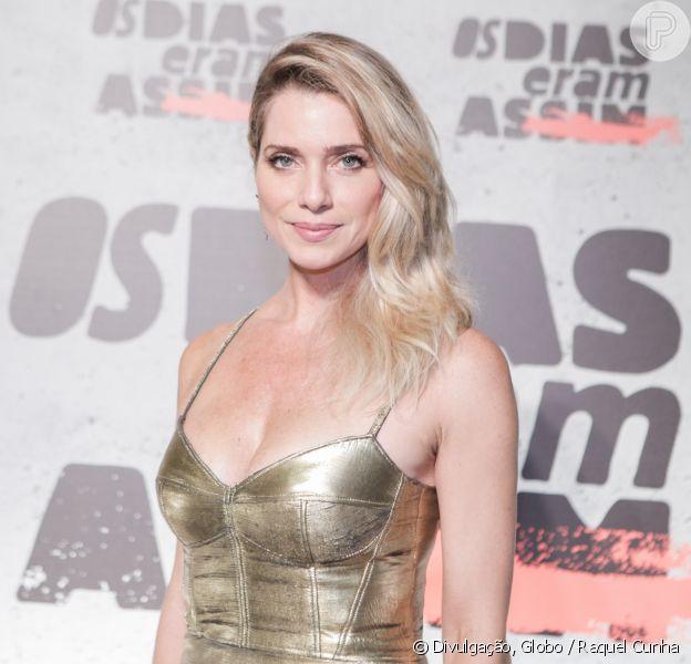 Leticia Spiller contou que sofreu assédio na gravidez durante lançamento de 'Os Dias Eram Assim' na noite de terça-feira, 5 de abril de 2017