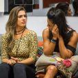 Vivian não concordou com a aproximação de Marinalva e Emilly no 'BBB17' e garantiu: 'Não vou mudar'