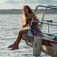 Ritinha (Isis Valverde) pula no barco de Ruy (Fiuk) ao ver Zeca (Marco Pigossi), na novela 'A Força do Querer'