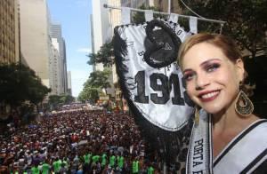 Antes de desfilar pela Mangueira, Leandra Leal pula carnaval em blocos de rua