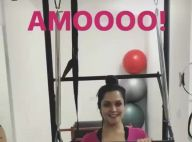 Grávida, Thais Fersoza exibe flexibilidade durante pilates: '2 vezes por semana'