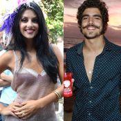Caio Castro troca beijos com Ana Julia Dorigon em festa no Rio: 'De mãos dadas'
