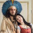 Anna (Isabelle Drummond) e Joaquim (Chay Suede) tê sua primeira noite de amor e se casam na aldeia dos índios, na novela 'Novo Mundo'