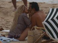 Leticia Spiller e Marcos Palmeira trocam beijos na praia ao gravar série. Fotos!