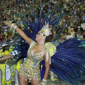 Carnaval: Juliana Alves chora e cai no samba no desfile da Unidos da Tijuca