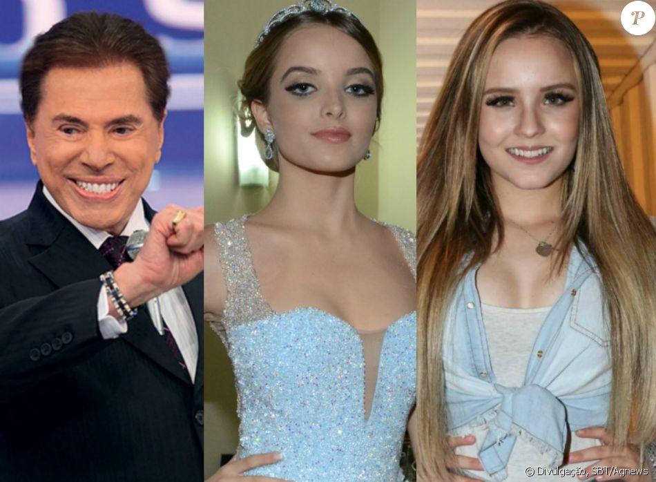 Silvio Santos provocou Giovanna Chaves por conta de Larissa Manoela, no seu  programa deste domingo 04fe26f0b6