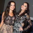 Emilly curtiu show de Luan Santana na companhia da irmã gêmea, Mayla