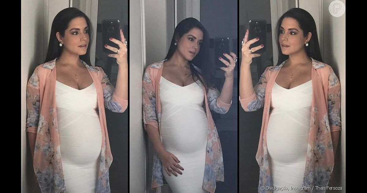 8b66df8f5 Thais Fersoza avalia look na gravidez: 'Pode sim usar branco e ficar linda'  - Purepeople