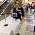 Ana Paula Renault também foi repórter do 'Fofocalizando' no SBT