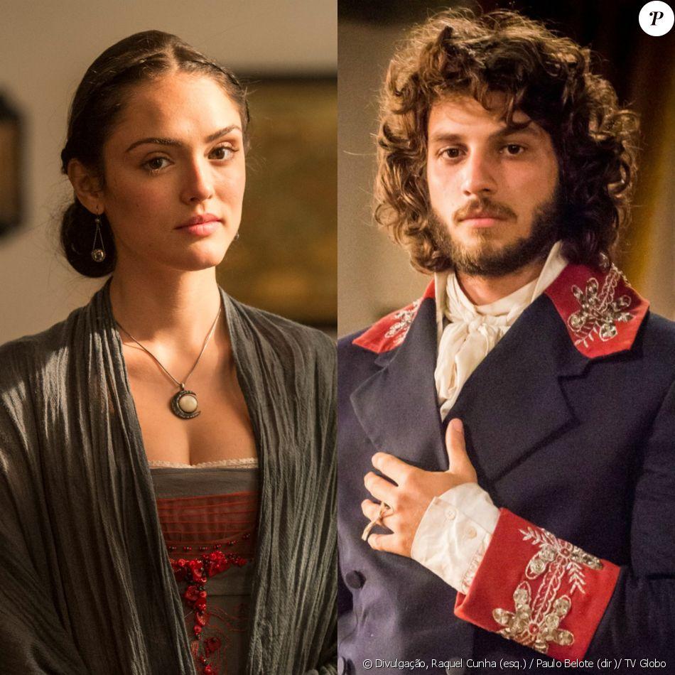 Anna (Isabelle Drummond) e Joaquim (Chay Suede) dotam novos visuais, na novela 'Novo Mundo', a partir de 22 de abril de 2017