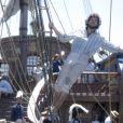 Joaquim (Chay Suede) já se passou por marujo, na novela 'Novo Mundo'