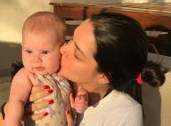Thais Fersoza mostra foto com filha, Melinda: 'Uma no colo e um no ventre'