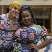 Ex-BBBs Manoel e Roberta se encontram em São Paulo: 'Matando a saudade'