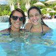Fernanda Gentil aproveitou feriado de Tiradentes para viajar em família para o  Rio Quente Resort, em Goiás