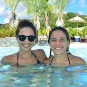 Fernanda Gentil curte feriado em resort com a namorada, Priscila Montandon