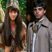 Novela 'Novo Mundo': Piatã aprende a caçar com Jacira e os dois se beijam