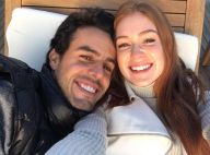 Marina Ruy Barbosa posta foto com o noivo e se declara: 'Saudade, meu amor'
