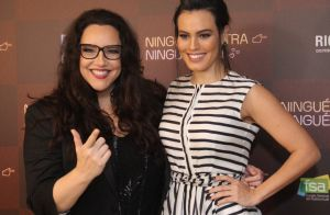 Ana Carolina acompanha a namorada, Leticia Lima, em pré-estreia de filme. Fotos!
