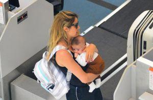 Rafa Brites publica foto da primeira viagem com o filho, Rocco: 'Só nós dois!'
