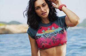 Beleza das famosas: Débora Nascimento hidrata corpo e cabelo com abacate