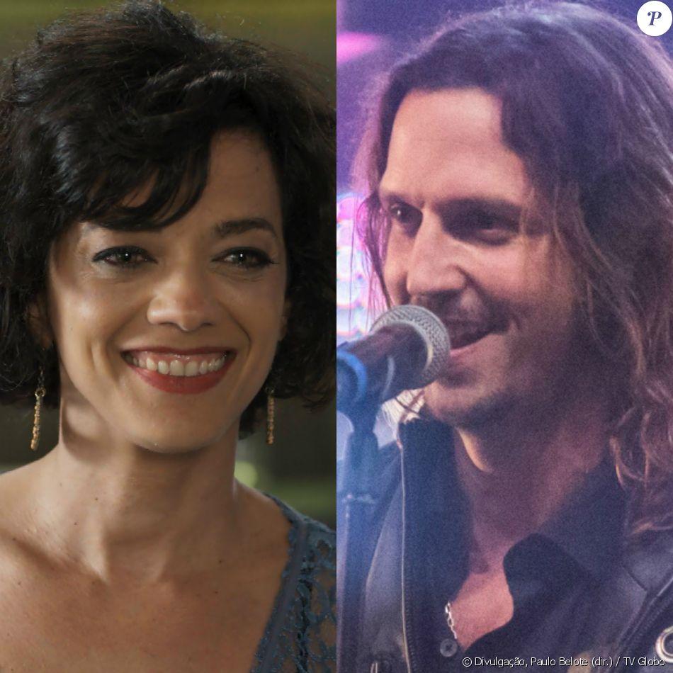 Mariane (Ana Cecilia Costa) invade palco do show de Gui (Vladimir Brichta) e o beija, na novela 'Rock Story', em 10 de maio de 2017