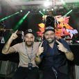Bruno Gagliasso curte show do Jota Quest após evento de MMA