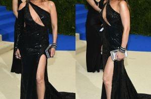 Thalía, aos 45 anos, usa look com decote e fenda no MET Gala. Fotos!